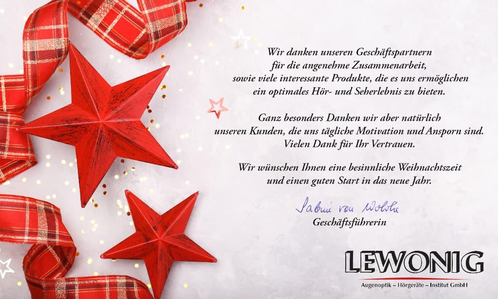Lewonig Weihnachtsgrüße 2018